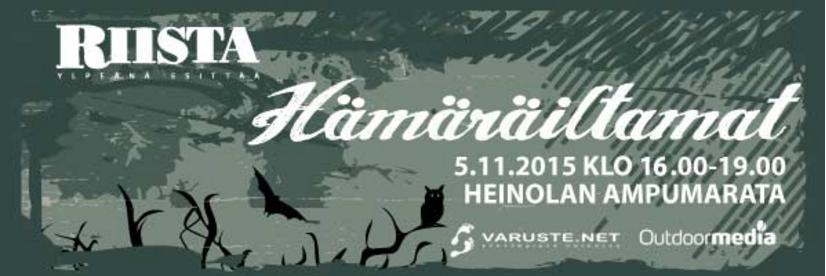 RIISTA-lehden HÄMÄRÄKIERTUE 2015 – HEINOLA